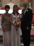 The bride with her proud parents