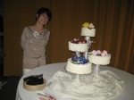 A lovely picture... Rory with her marvelous cakes.